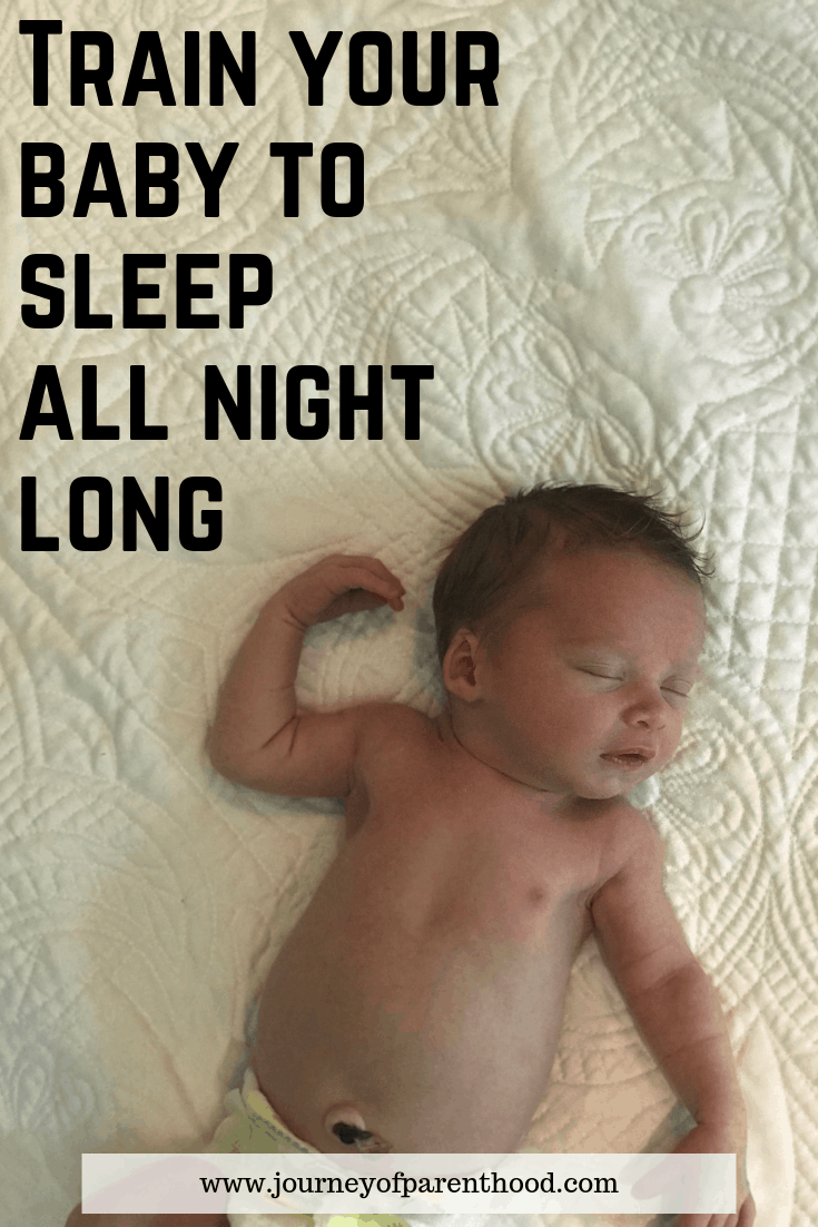 Pinable image: train your baby to sleep all night long - Babywise Sleep