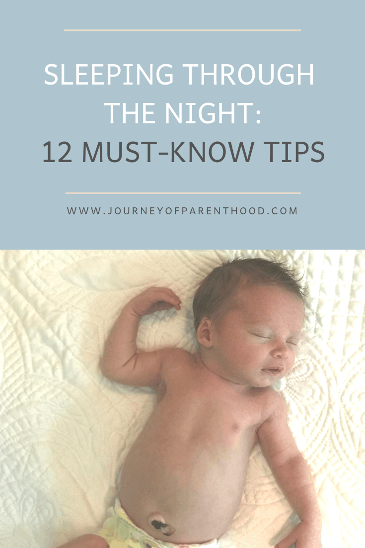 Pinable image: sleeping through the night: 12 must know tips - Babywise Sleep
