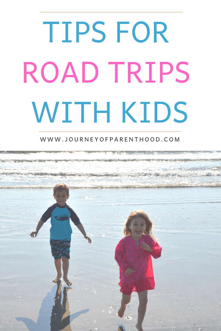 pinable image: tips for road trips with kids