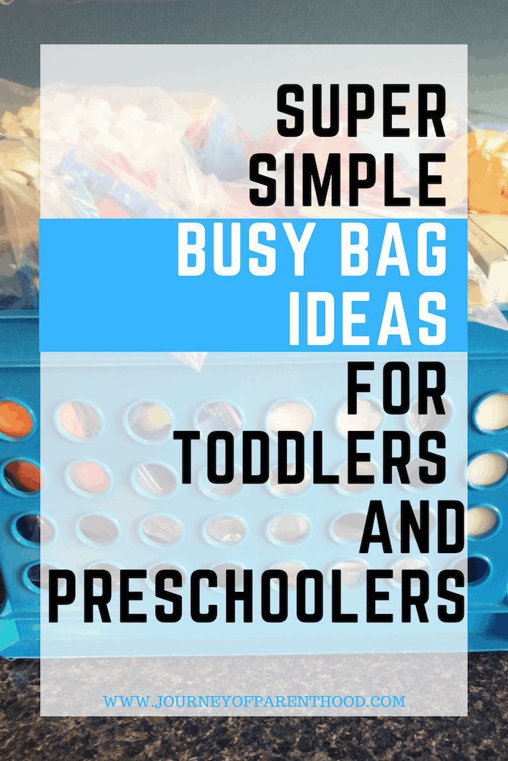 pinable image: super simple busy bag ideas for toddlers and preschoolers