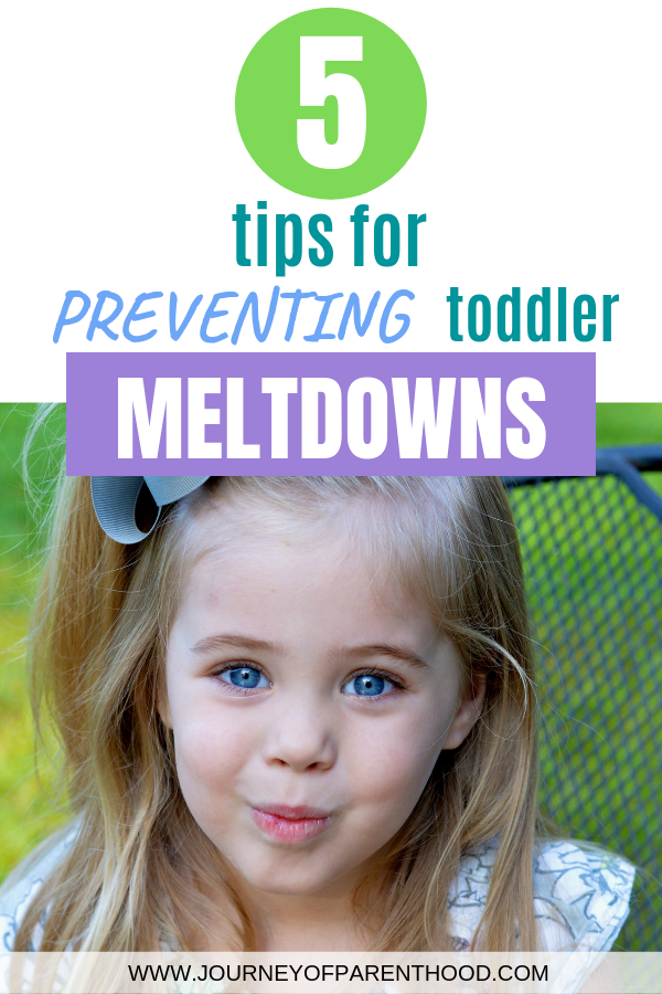 pinable image 5 tips for preventing toddler meltdowns