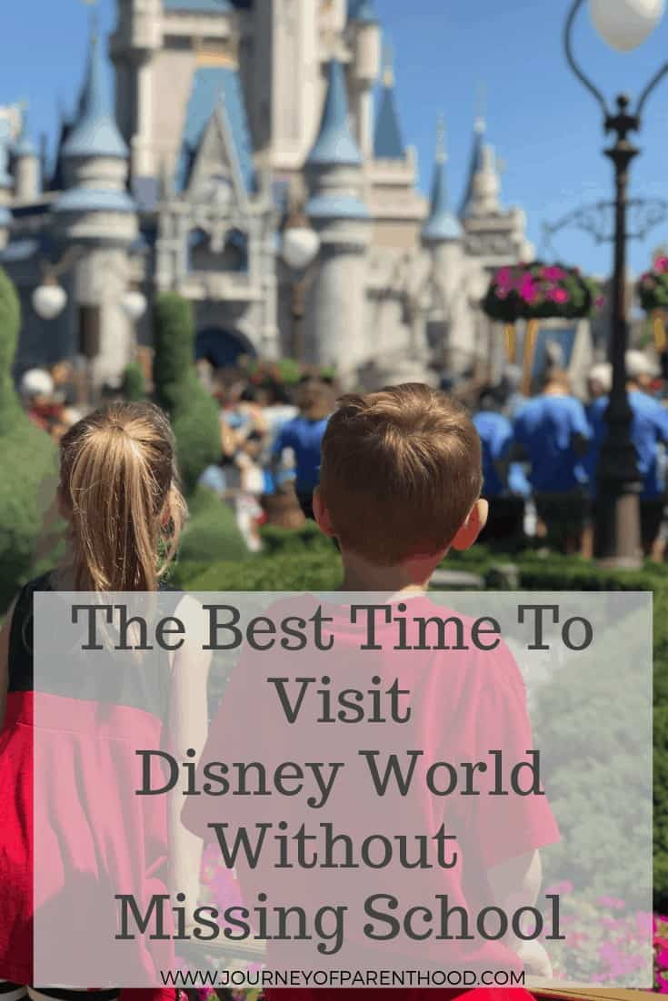 best time to visit Disney World without missing school