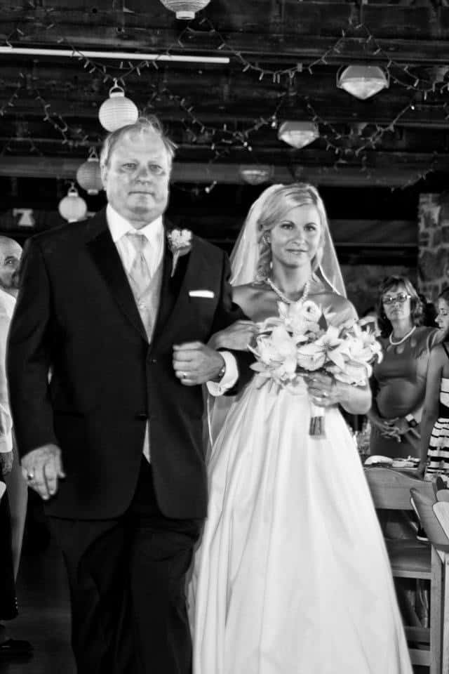 Caitlin wedding day with dad