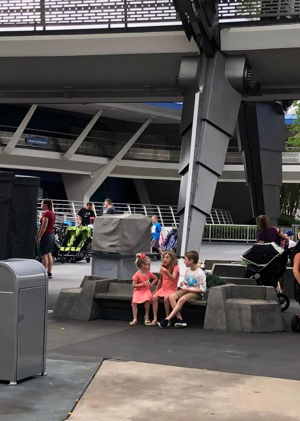 kids hanging out at MK