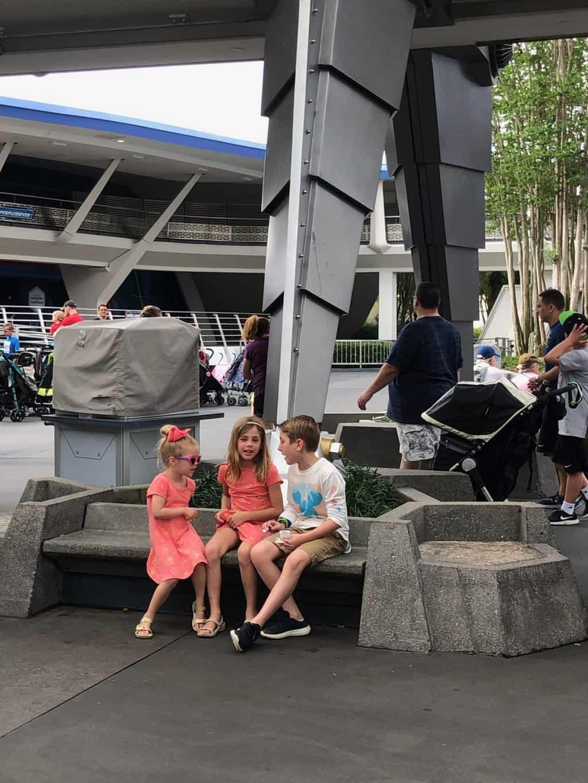 kids hanging out at MK