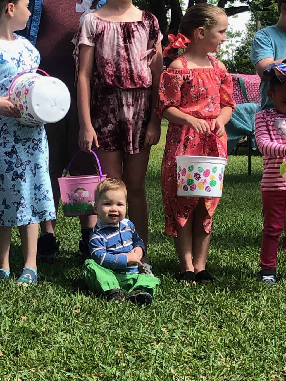 Katie's egg hunt with kids