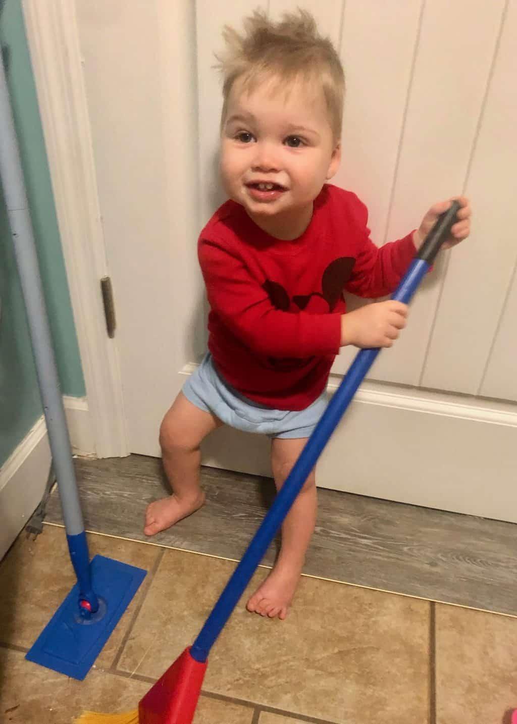 spear helping clean
