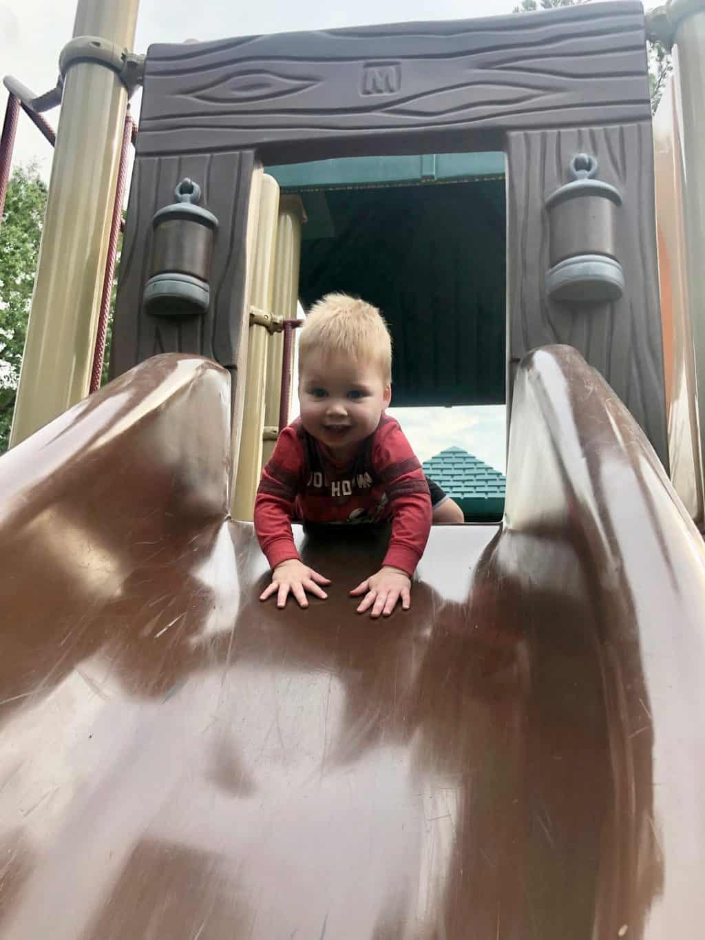 spear playing on playground