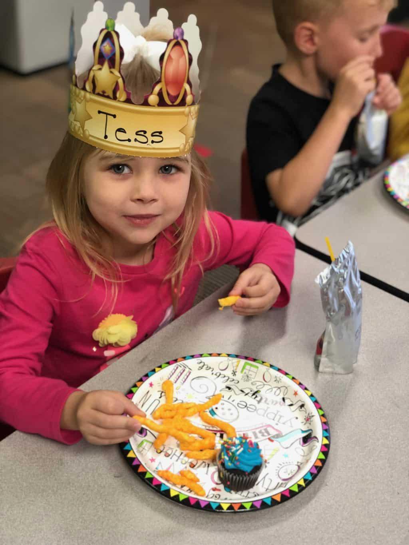 Tess birthday celebration at school