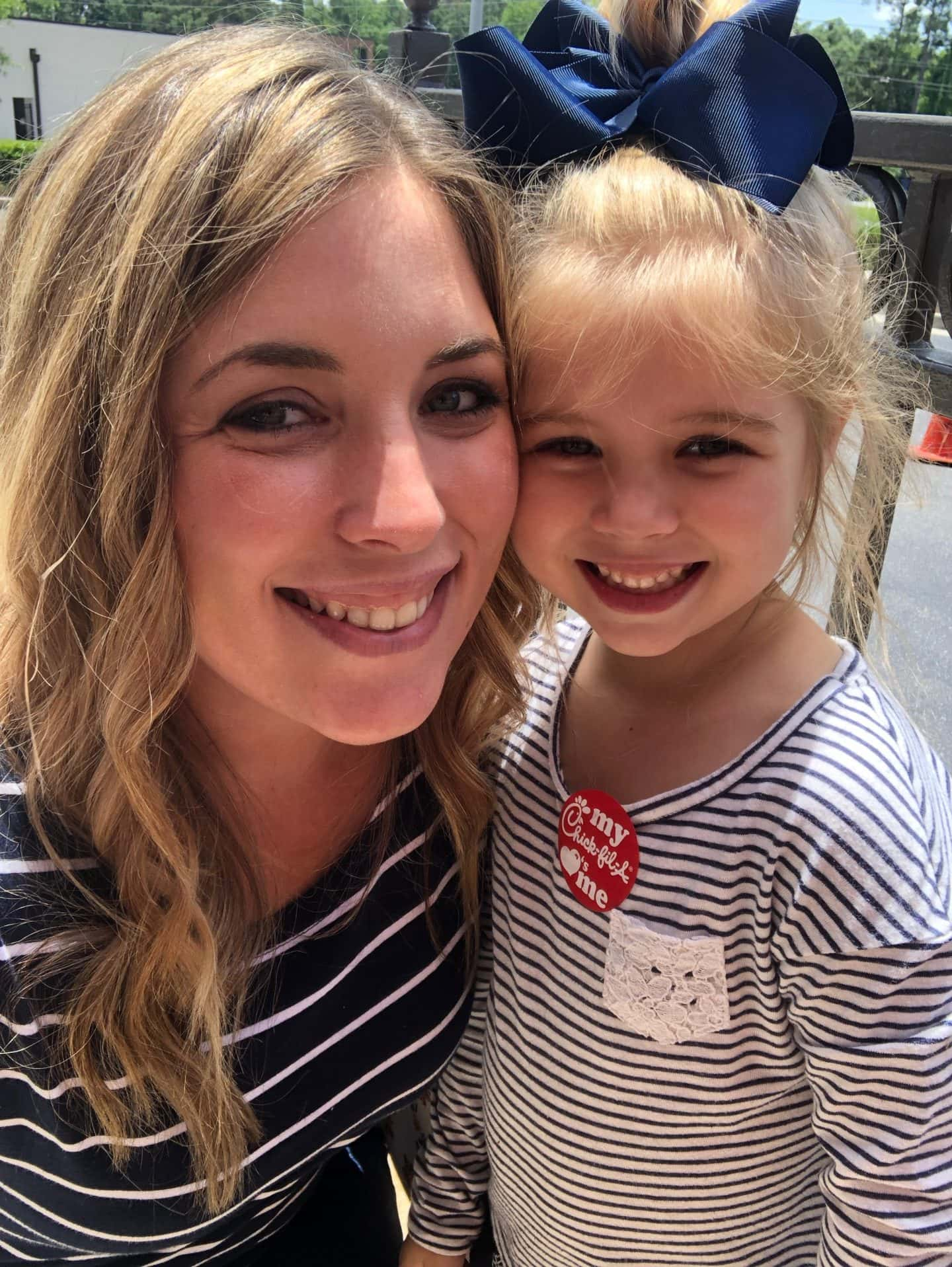 tess and mommy at cfa