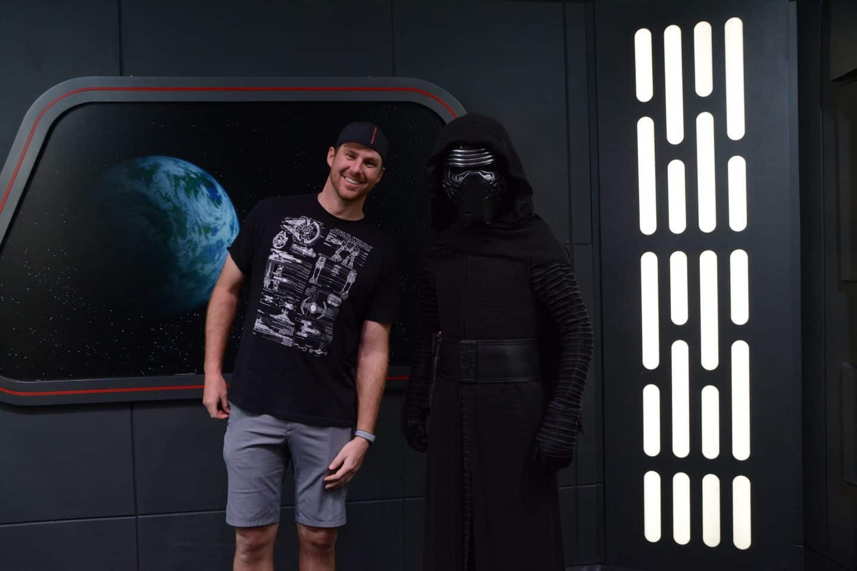 man with kylo ren at Hollywood Studios