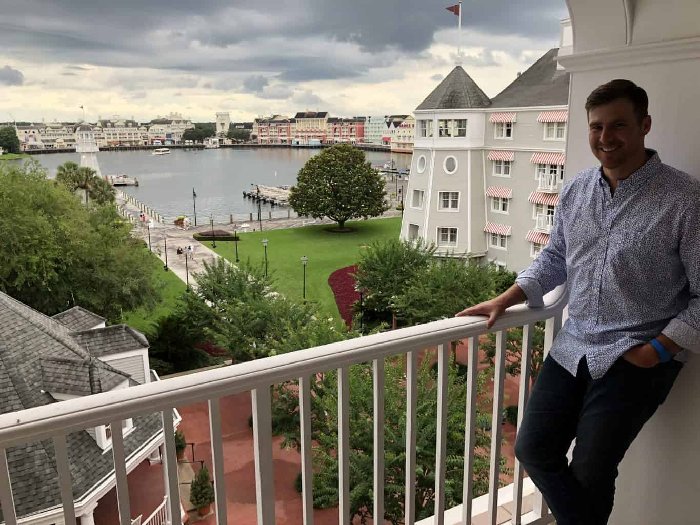 man at disney yacht club resort