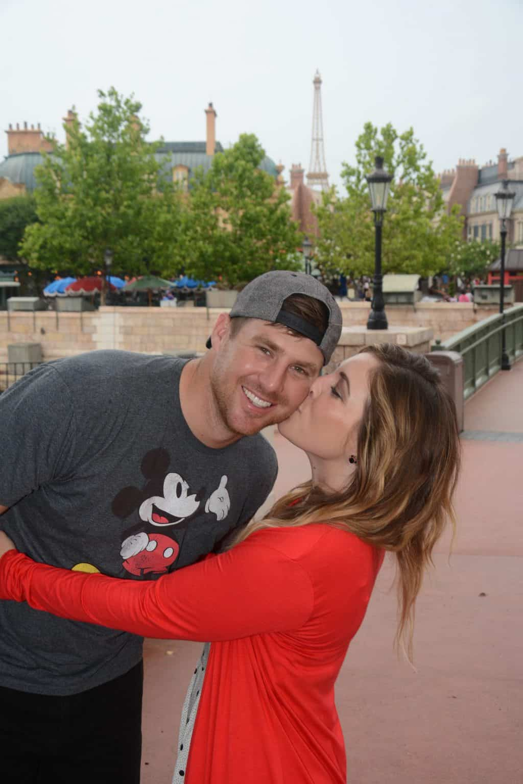 couple at disney world's Epcot