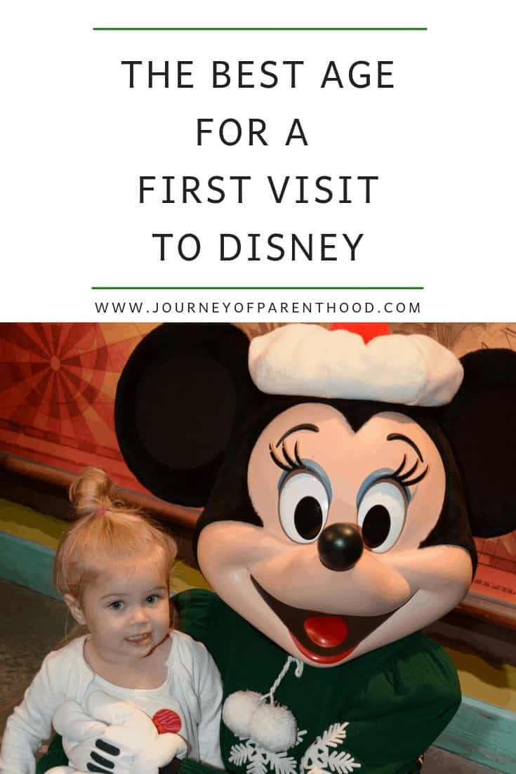 best age for a first visit to disney