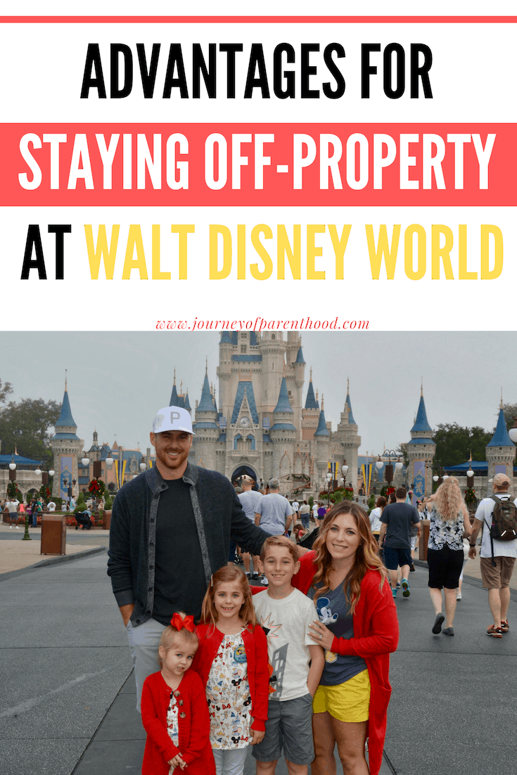 pinable image: advantages for staying off property at Walt Disney World