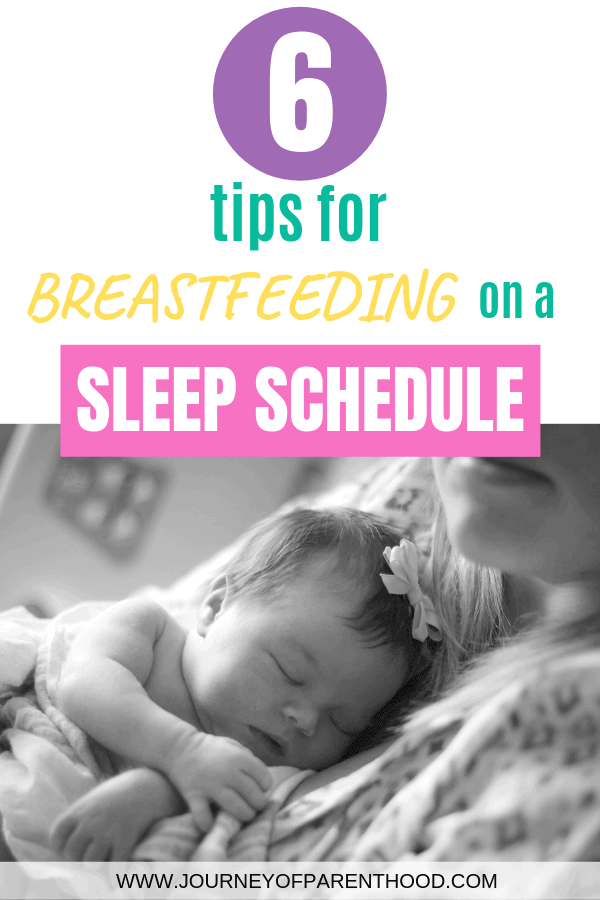 6 tips for breastfeeding on a sleep schedule