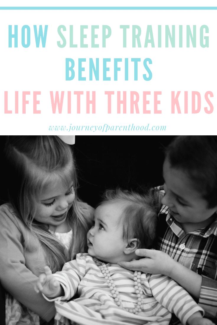 pin image how sleep training benefits life with three kids