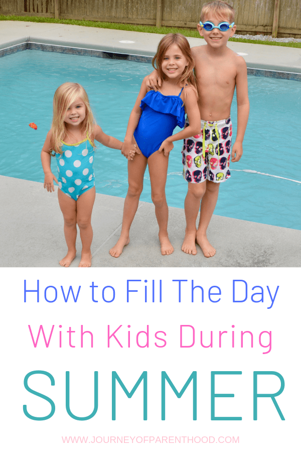 kids by pool - how to fill the day with kids during summer