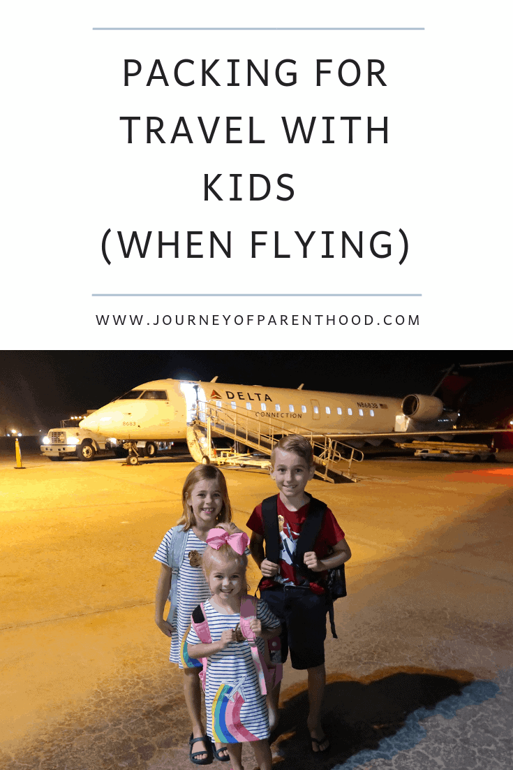 what to pack for travel with kids when flying