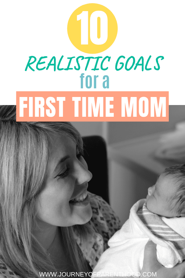 mom with baby - 10 realistic goals for a first time mom