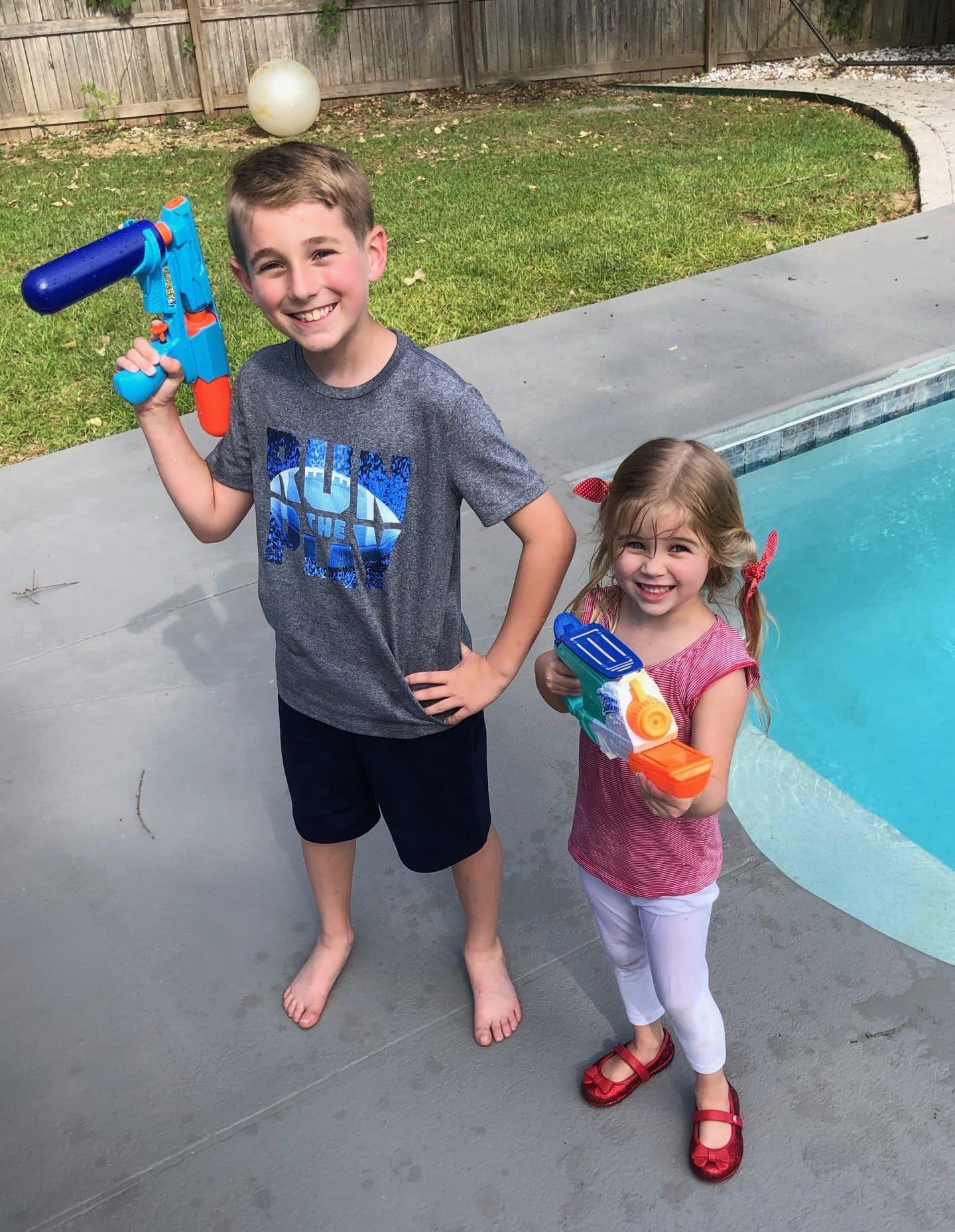 water gun fight