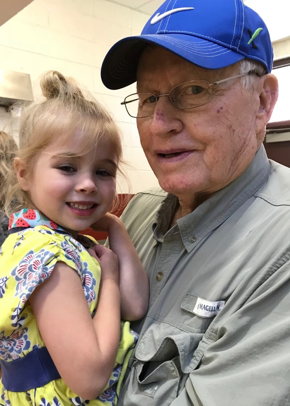 great grandfather with great granddaughter
