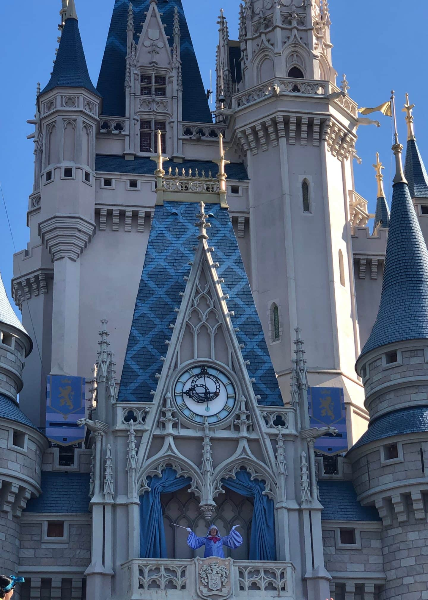 morning show at cinderella's castle magic kingdom disney