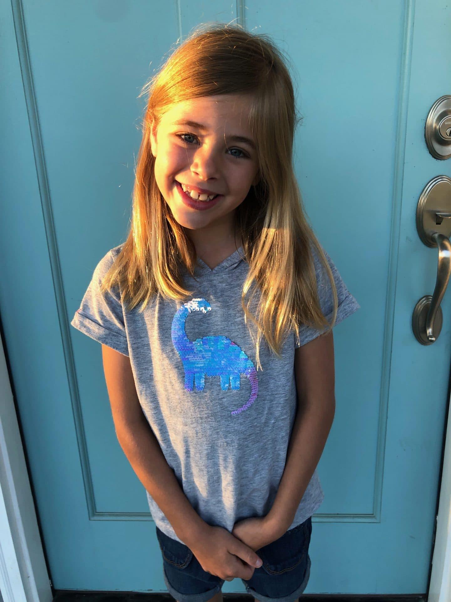 little girl last day 1st grade