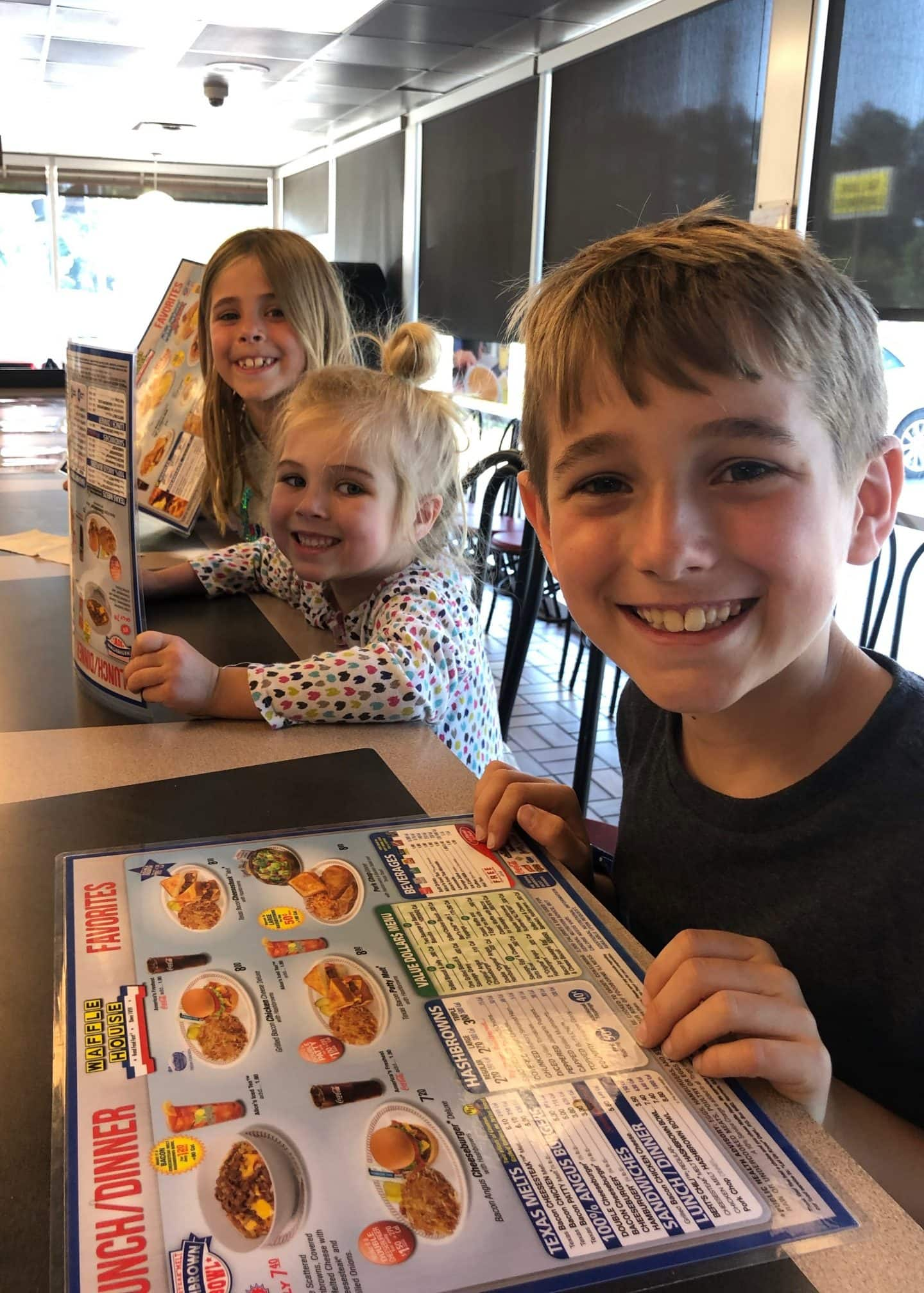 Waffle House family dinner