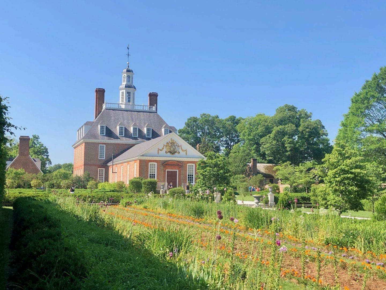 governors palace at Williamsburg Virginia