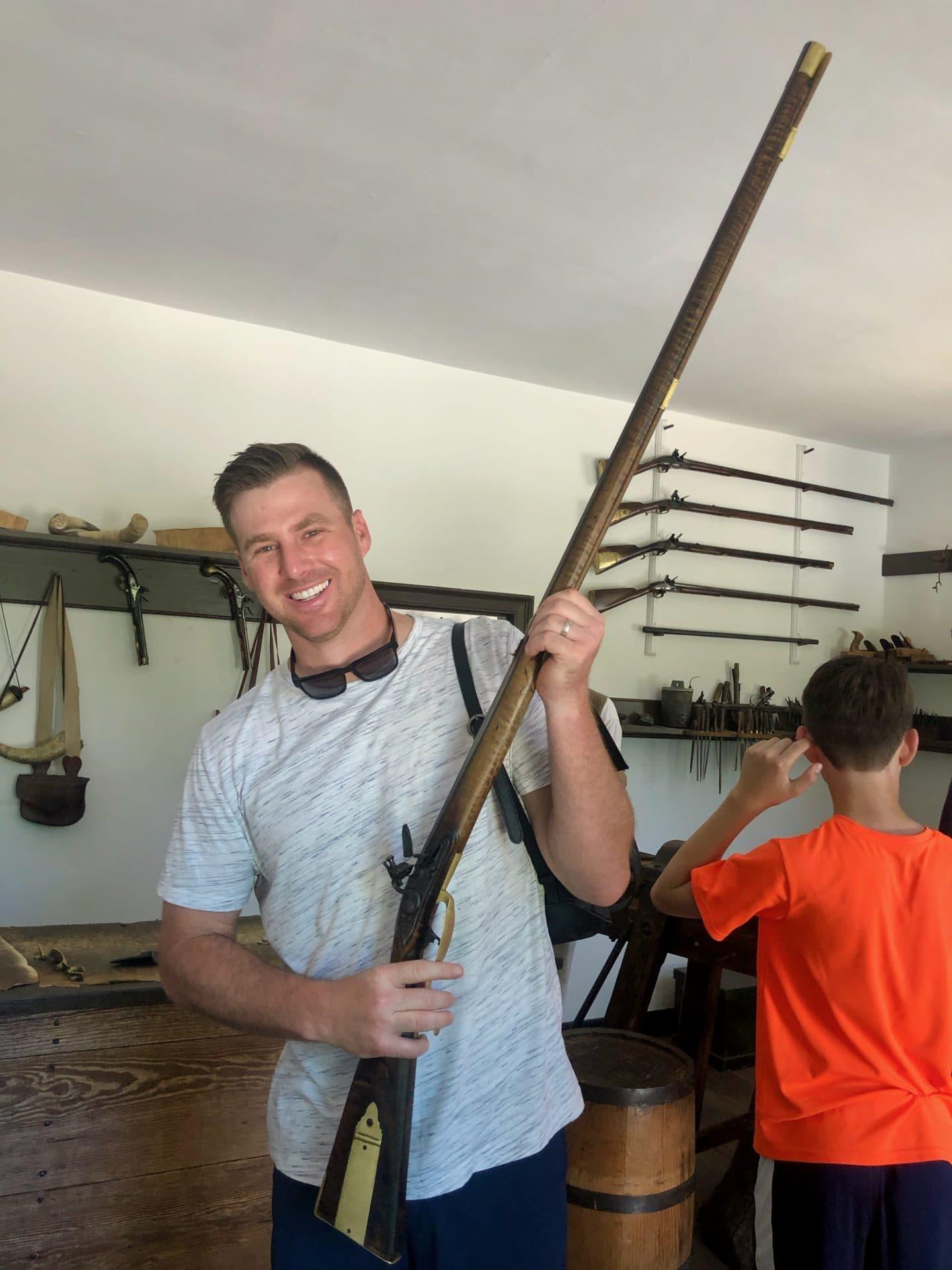 gunsmith at Colonial Williamsburg