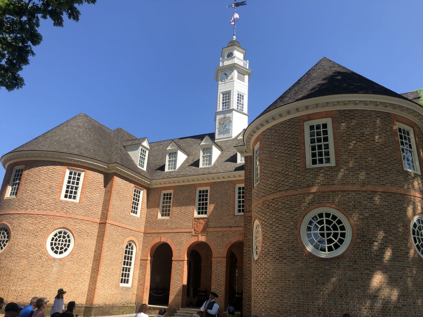 the capitol building in Colonial Williamsburg