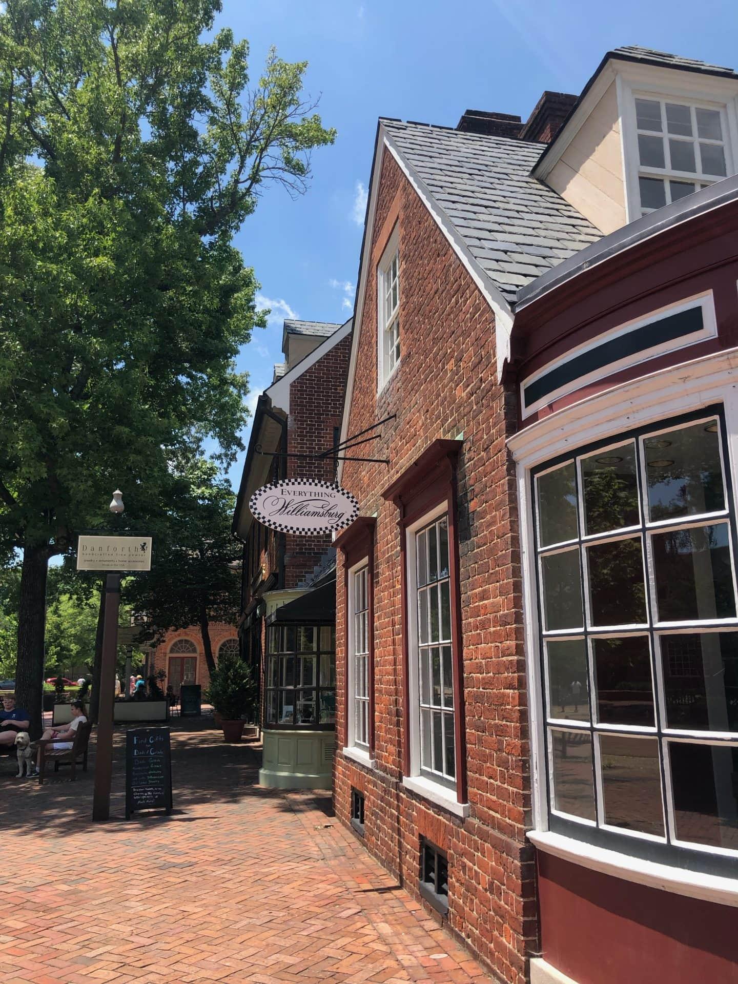 merchants square in Williamsburg Virginia