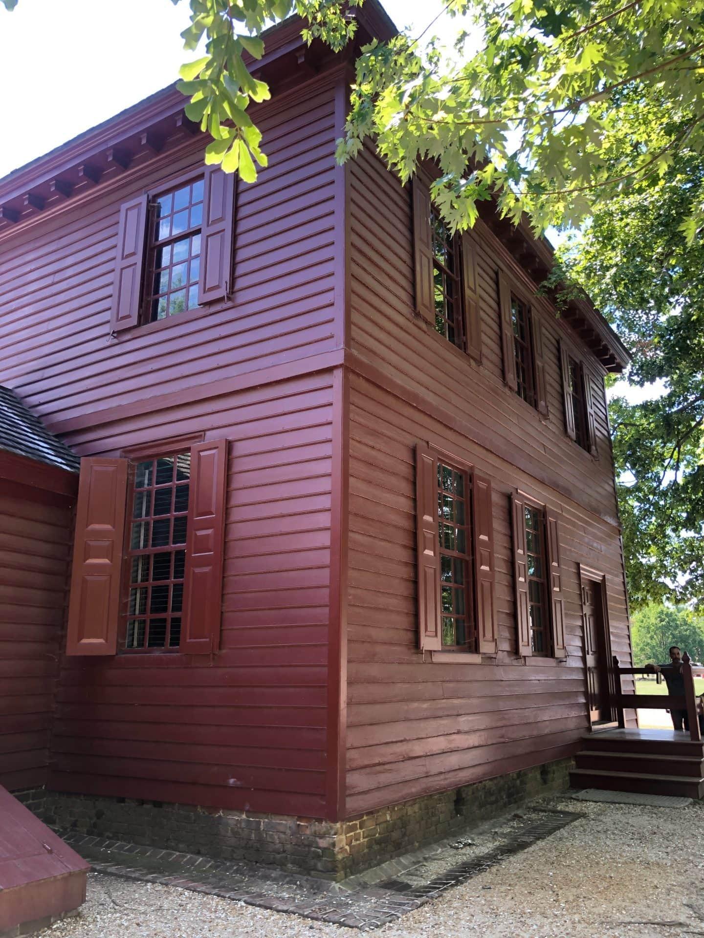 Randolph House in Colonial Williamsburg Virginia