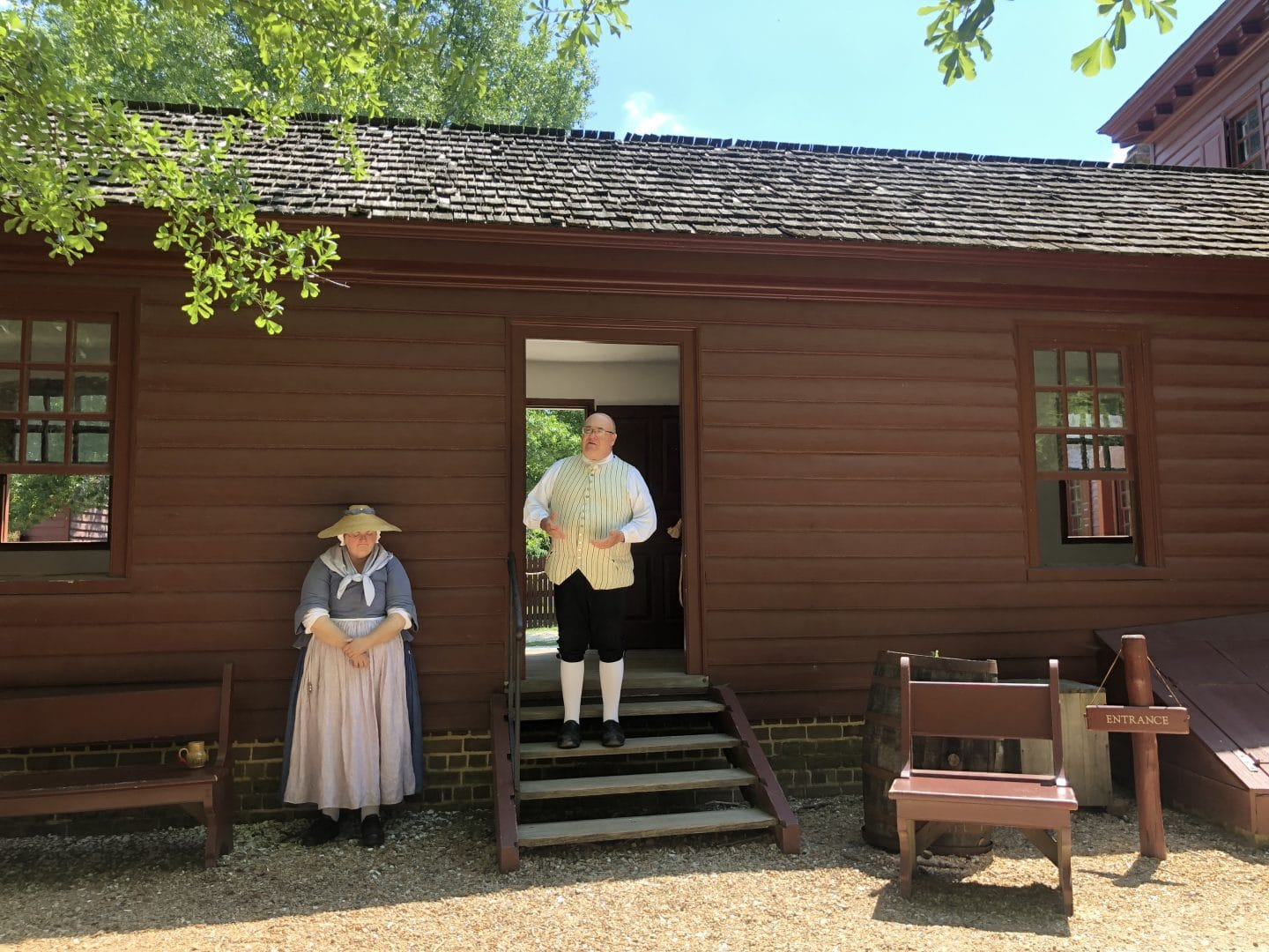 Randolph House in Colonial Williamsburg Virginia