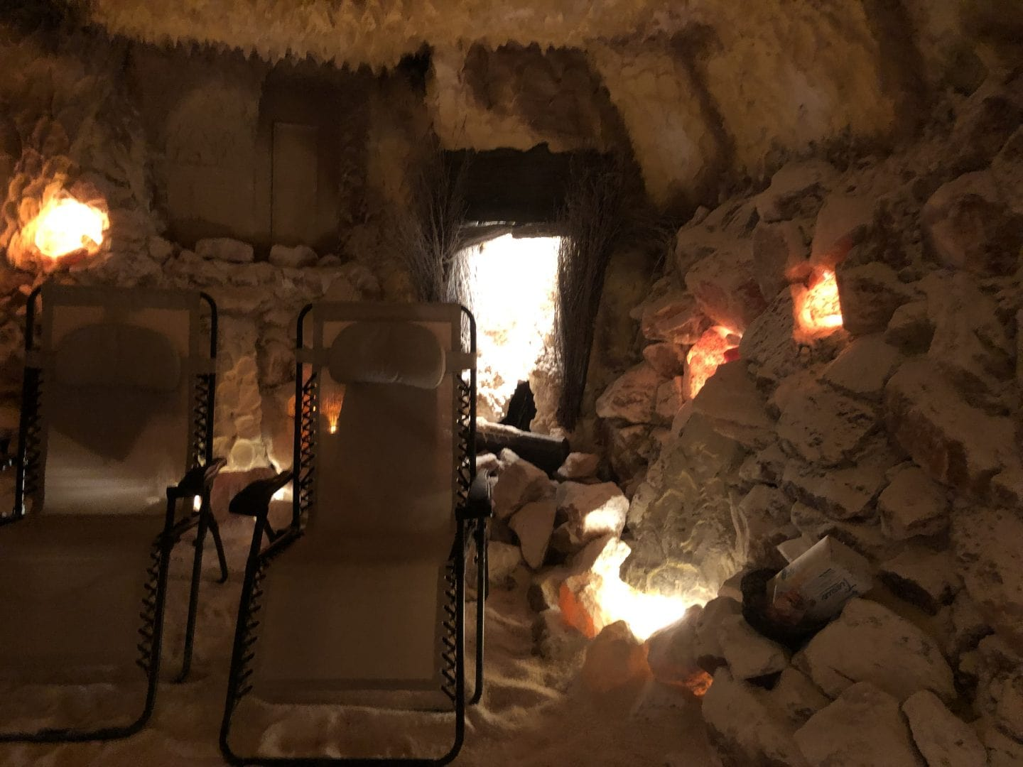 salt cave at the salt spa in Williamsburg Virginia
