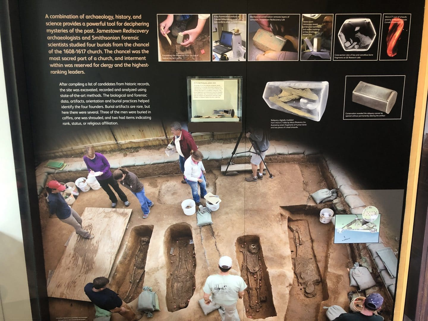 early artifacts from historic Jamestown in Virginia