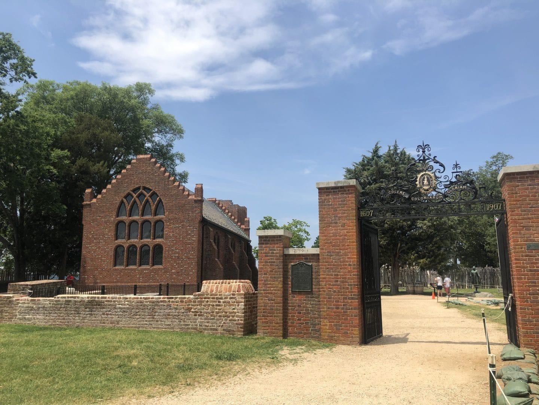 church at historic Jamestowne viriginia