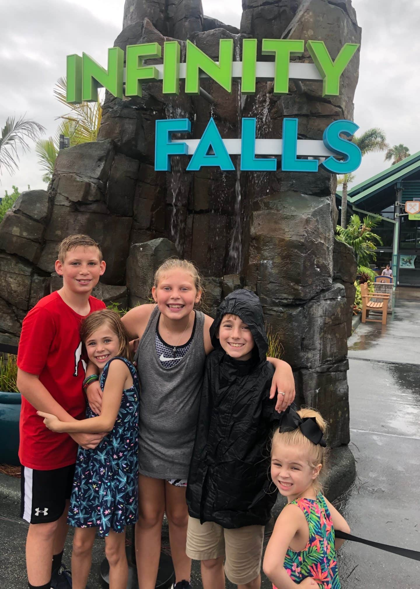 infinity falls ride at sea world Orlando