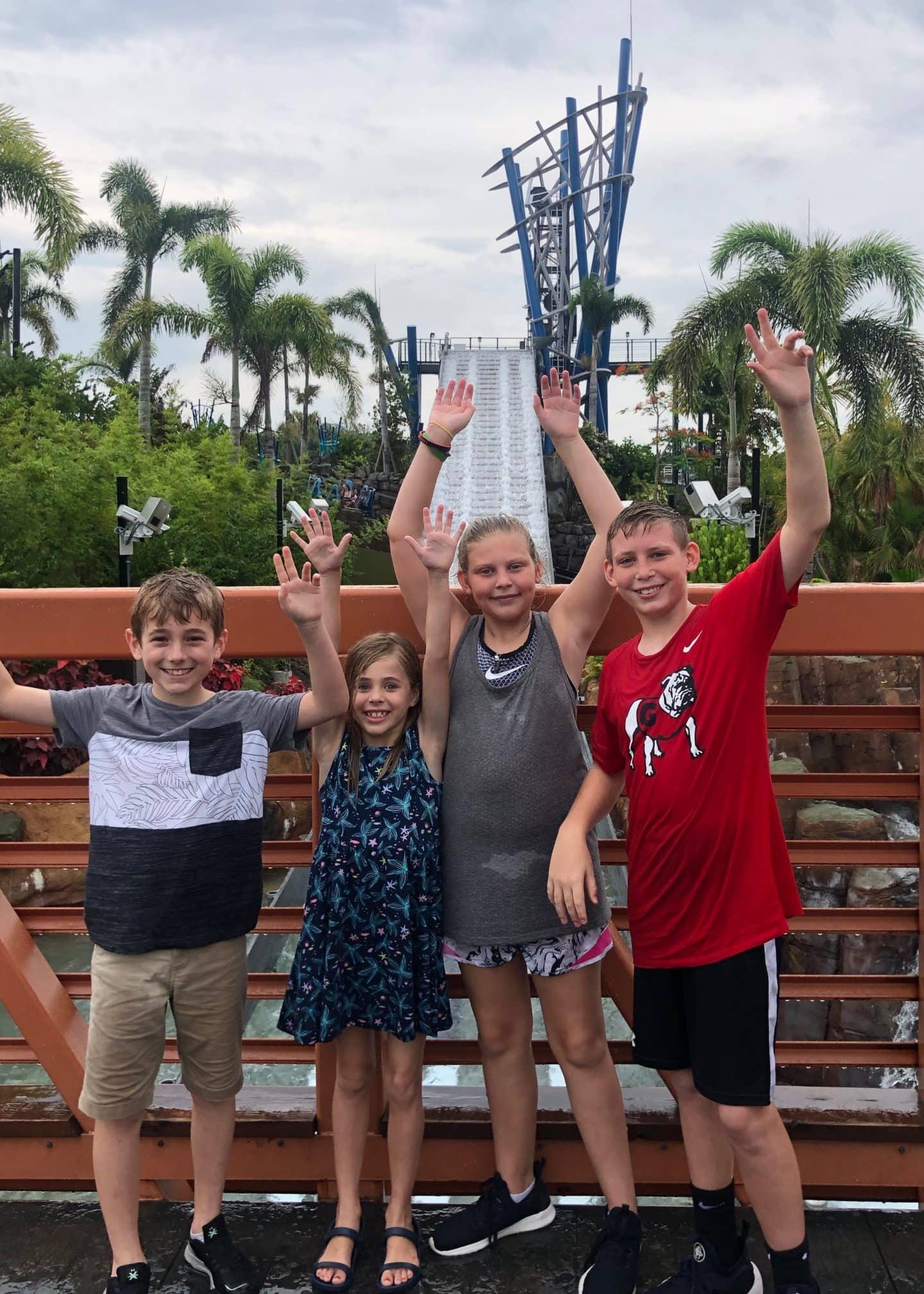infinity falls ride at sea world Orlando