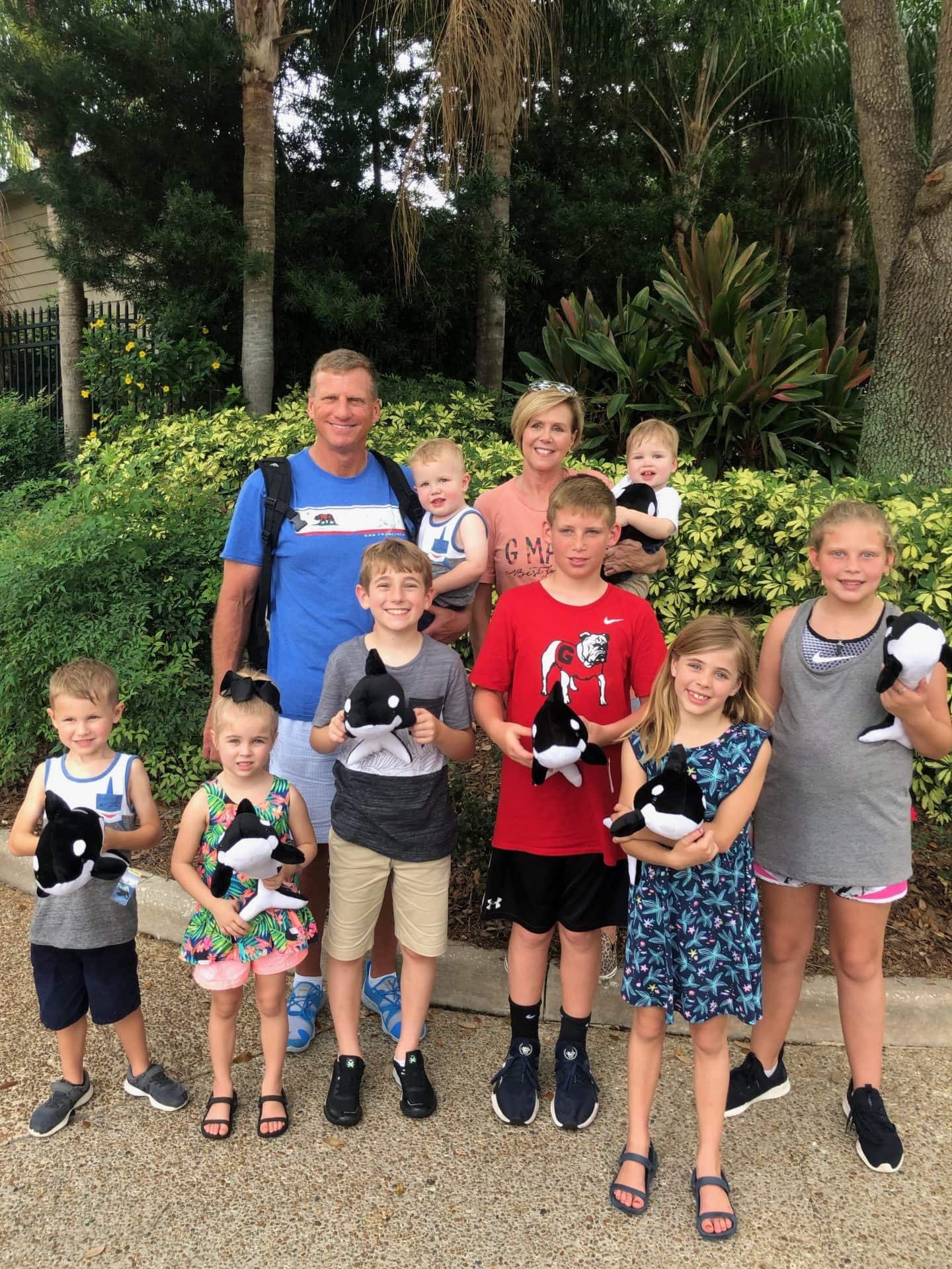 Parker family grandchildren