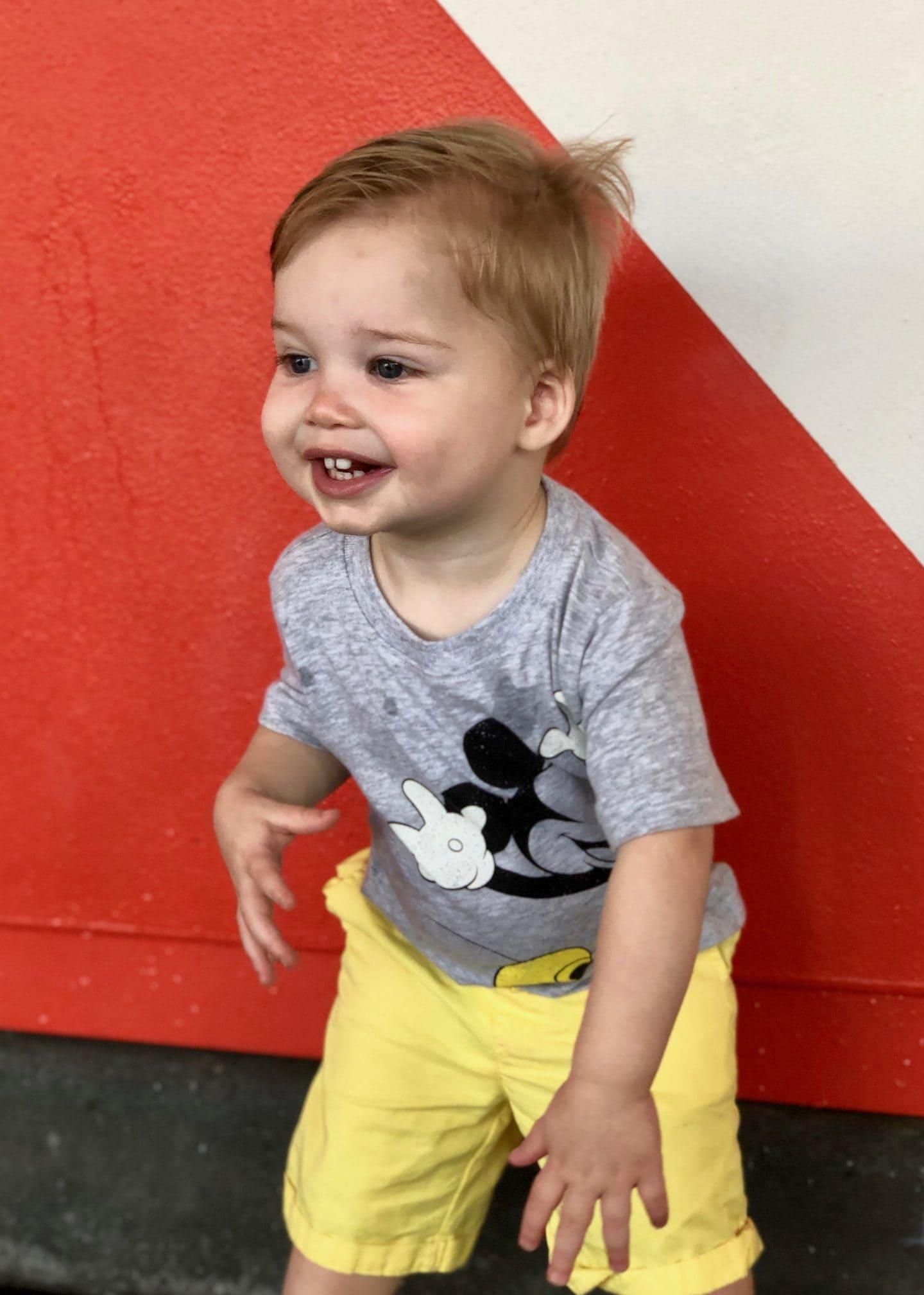 toddler boy at magic kingdom at Disney World