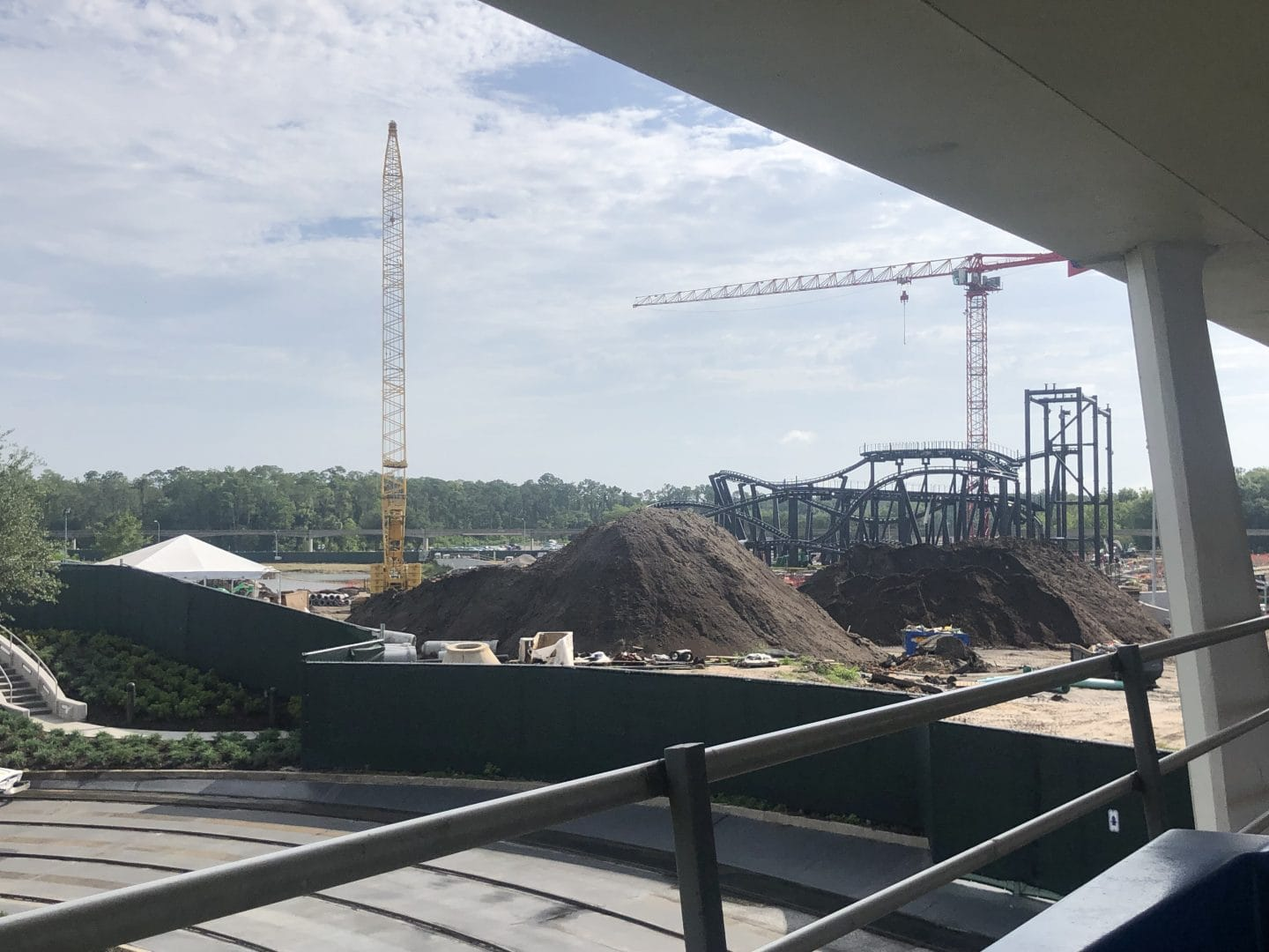 tron ride construction magic kingdom