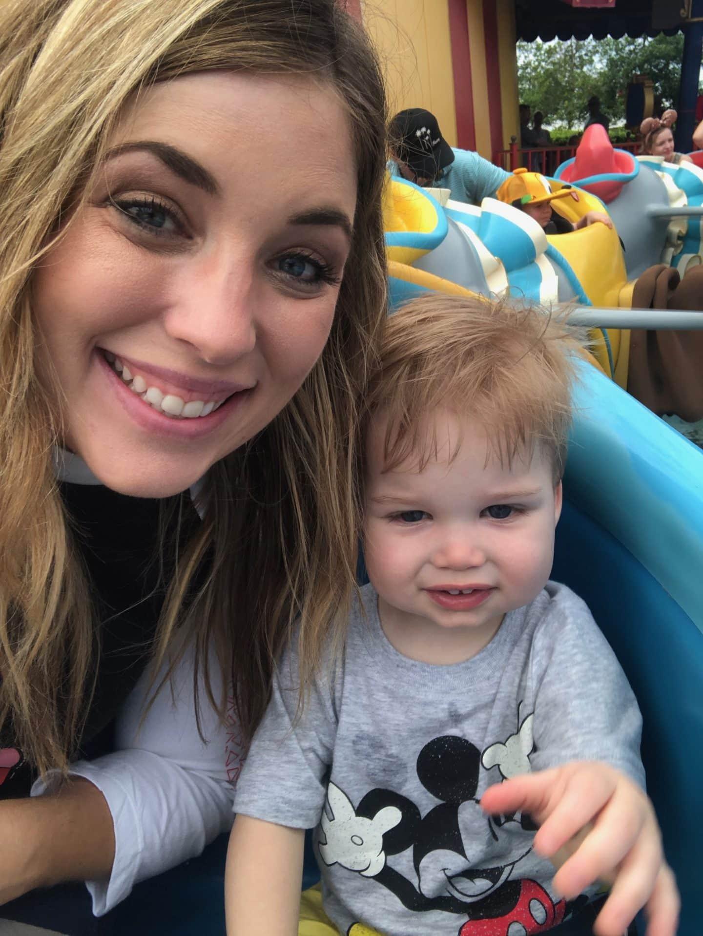 dumbo ride with toddler at magic kingdom Disney World
