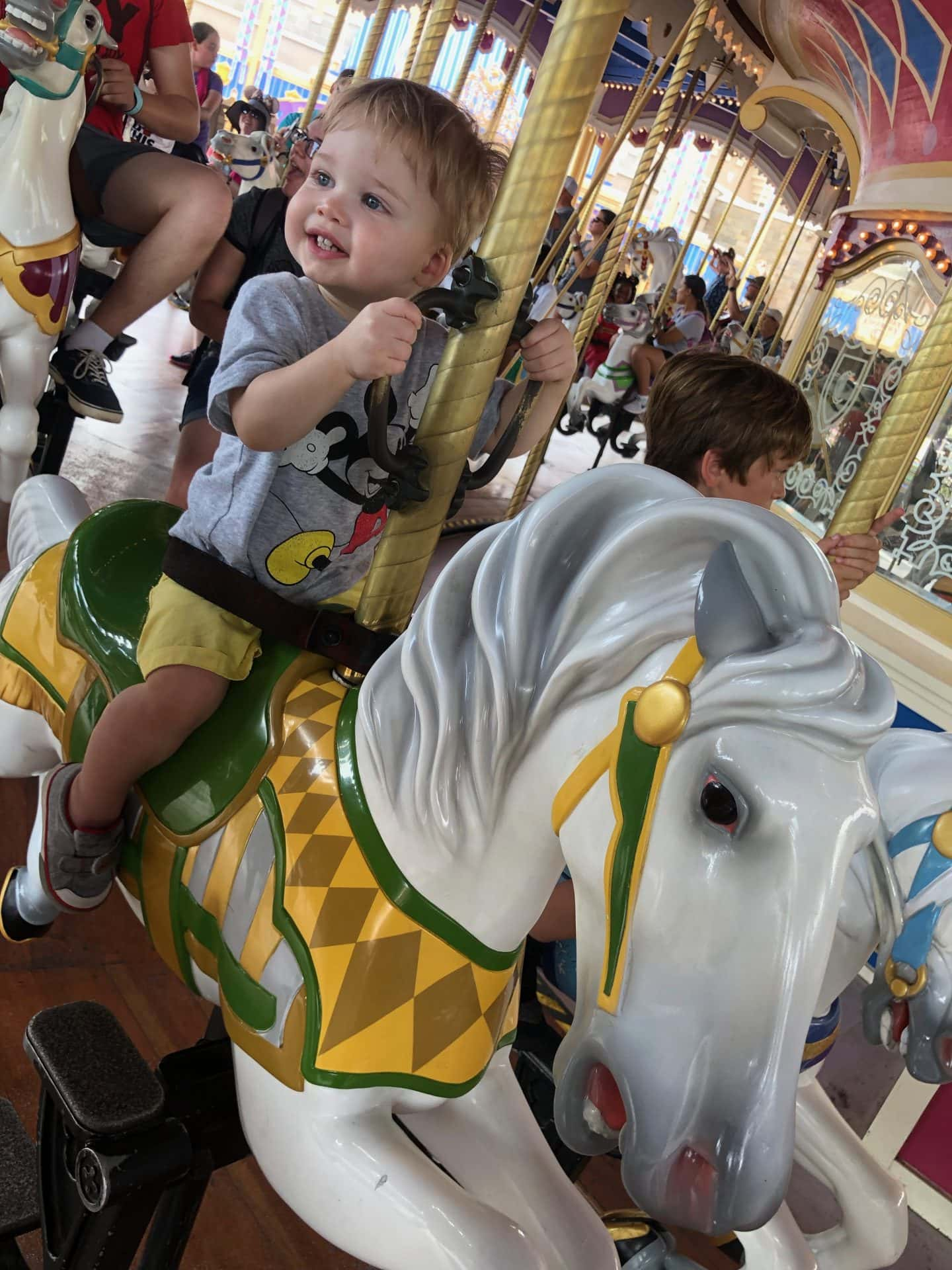 prince charming carousel toddler boy magic kingdom Disney World