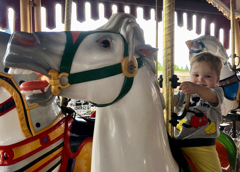 prince charming carousel toddler boy magic kingdom Disney World