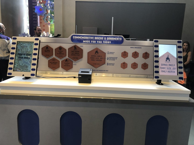 space mountain gift shop Tomorrowland magic kingdom personalized brick