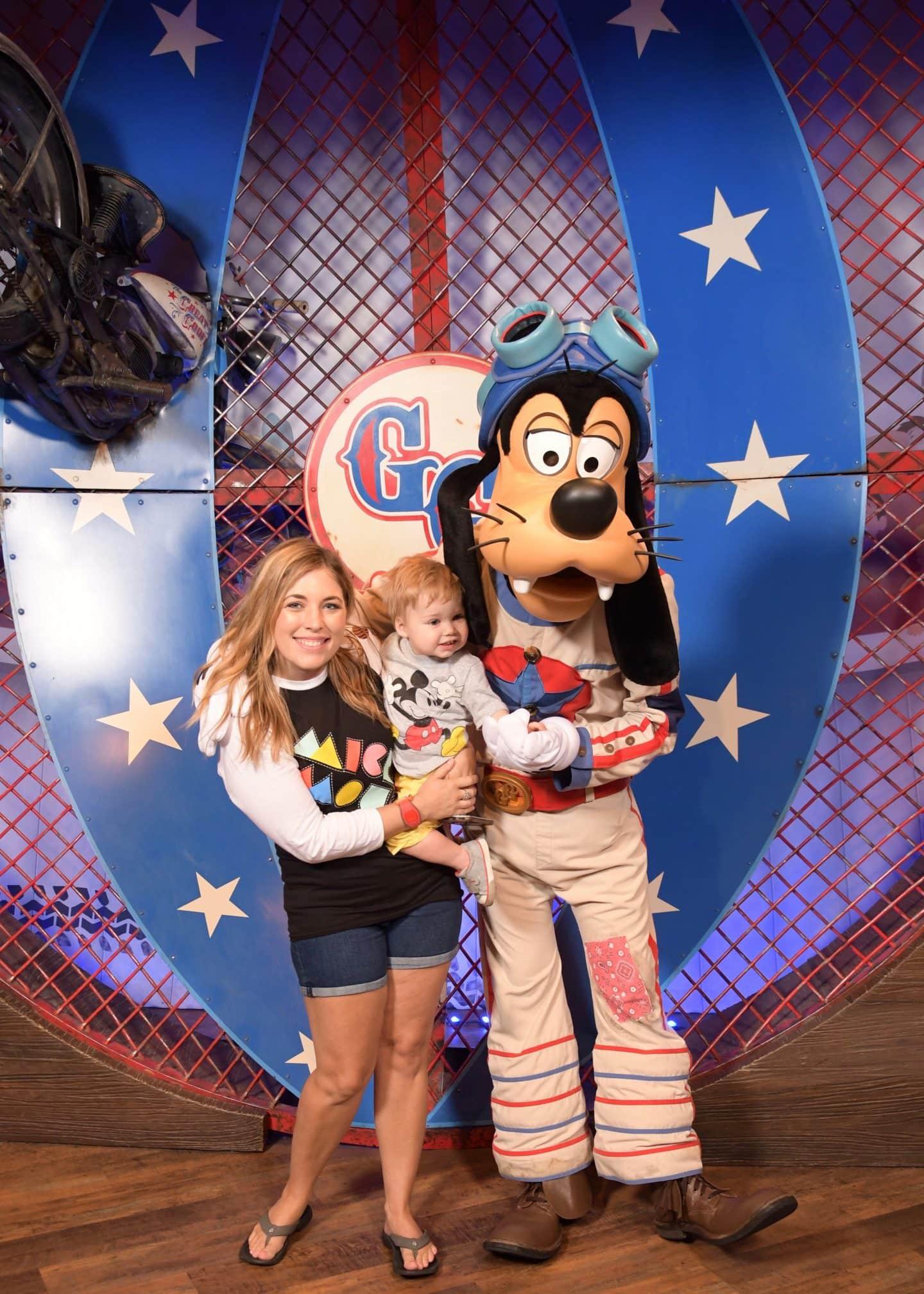 toddler boy with goofy at magic kingdom Disney World