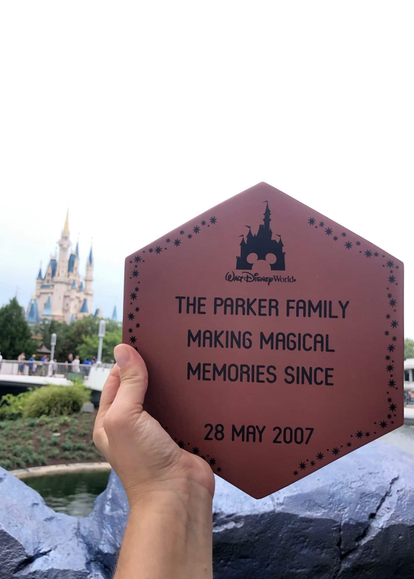 disney magic kingdom personalized brick