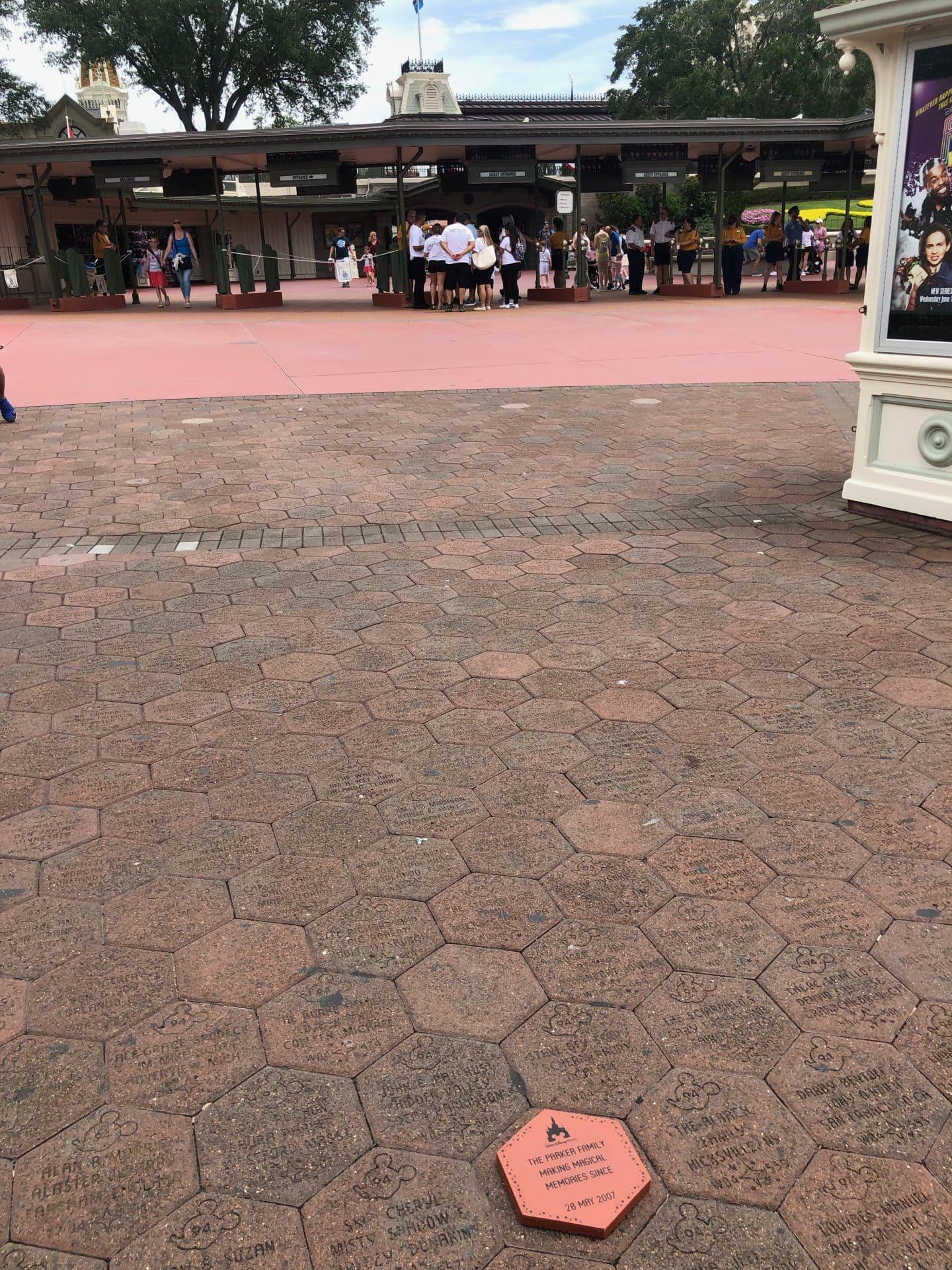 disney magic kingdom personalized brick